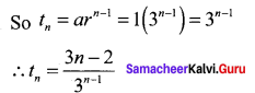 Samacheer Kalvi 11th Maths Solutions Chapter 5 Binomial Theorem, Sequences and Series Ex 5.3 11