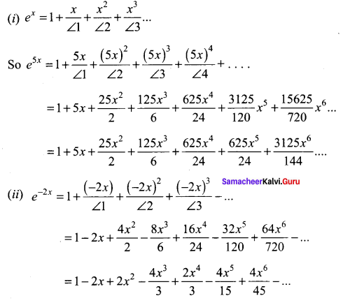 Samacheer Kalvi 11th Maths Solutions Chapter 5 Binomial Theorem, Sequences and Series Ex 5.4 10