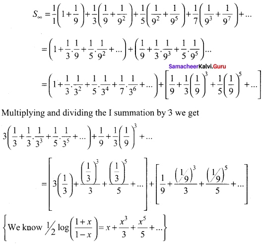 Samacheer Kalvi 11th Maths Solutions Chapter 5 Binomial Theorem, Sequences and Series Ex 5.4 24