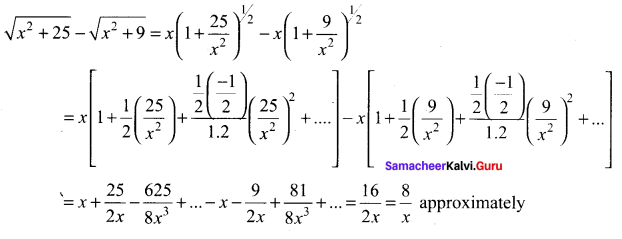 Samacheer Kalvi 11th Maths Solutions Chapter 5 Binomial Theorem, Sequences and Series Ex 5.4 34