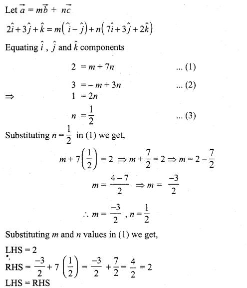 Maths Guide 11th Solutions Chapter 8 Vector Algebra - I Ex 8.2 Samacheer Kalvi