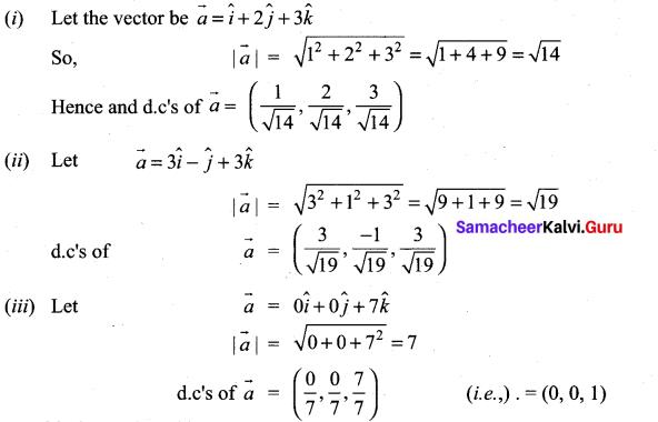 11th Maths Exercise 8.2 Answers Solutions Chapter 8 Vector Algebra - I Samacheer Kalvi