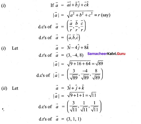 11th Maths 8.2 Solutions Chapter 8 Vector Algebra Samacheer Kalvi