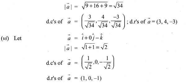 Class 11 Maths Chapter 8 Exercise 8.2 Solutions Vector Algebra Samacheer Kalvi