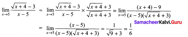 Samacheer Kalvi 11th Maths Solutions Chapter 9 Limits and Continuity Ex 9.2 10