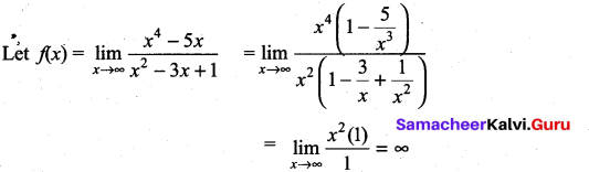 Samacheer Kalvi 11th Maths Solutions Chapter 9 Limits and Continuity Ex 9.3 10