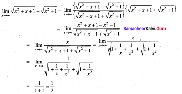 Samacheer Kalvi 11th Maths Solutions Chapter 9 Limits and Continuity Ex 9.3 24