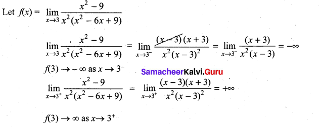 Samacheer Kalvi 11th Maths Solutions Chapter 9 Limits and Continuity Ex 9.3 3