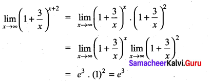 Samacheer Kalvi 11th Maths Solutions Chapter 9 Limits and Continuity Ex 9.4 10