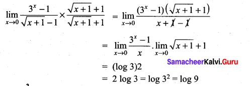 Samacheer Kalvi 11th Maths Solutions Chapter 9 Limits and Continuity Ex 9.4 33