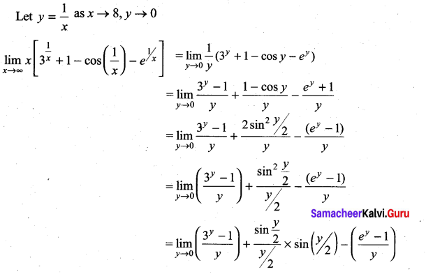 Samacheer Kalvi 11th Maths Solutions Chapter 9 Limits and Continuity Ex 9.4 37