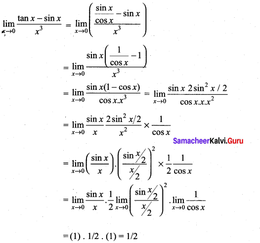 Samacheer Kalvi 11th Maths Solutions Chapter 9 Limits and Continuity Ex 9.4 61