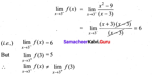 Samacheer Kalvi 11th Maths Solutions Chapter 9 Limits and Continuity Ex 9.5 14