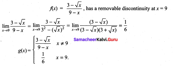 Samacheer Kalvi 11th Maths Solutions Chapter 9 Limits and Continuity Ex 9.5 33