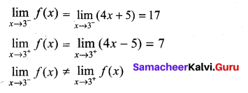 Samacheer Kalvi 11th Maths Solutions Chapter 9 Limits and Continuity Ex 9.5 4