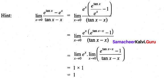 Samacheer Kalvi 11th Maths Solutions Chapter 9 Limits and Continuity Ex 9.6 37