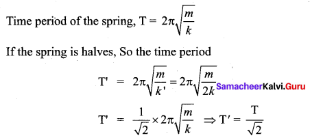 Samacheer Kalvi 11th Physics Solutions Chapter 10 Oscillations 11