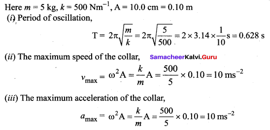 Samacheer Kalvi 11th Physics Solutions Chapter 10 Oscillations 153
