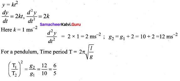 Samacheer Kalvi 11th Physics Solutions Chapter 10 Oscillations 16