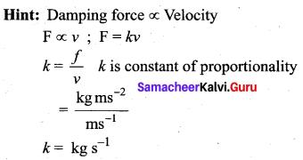 Samacheer Kalvi 11th Physics Solutions Chapter 10 Oscillations 42