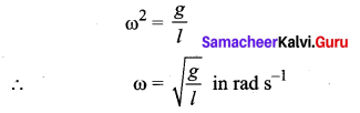Samacheer Kalvi 11th Physics Solutions Chapter 10 Oscillations 50