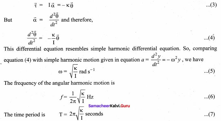 Samacheer Kalvi 11th Physics Solutions Chapter 10 Oscillations 65