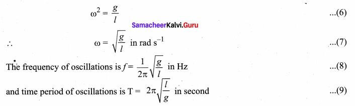 Samacheer Kalvi 11th Physics Solutions Chapter 10 Oscillations 672