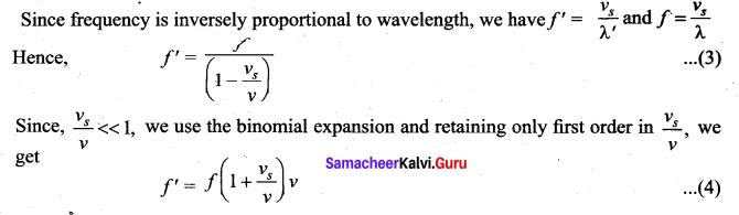 Samacheer Kalvi 11th Physics Solutions Chapter 11 Waves 961