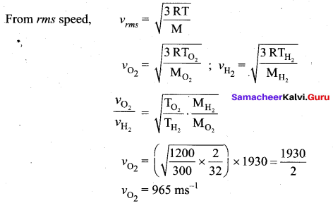 Samacheer Kalvi 11th Physics Solutions Chapter 9 Kinetic Theory of Gases 103