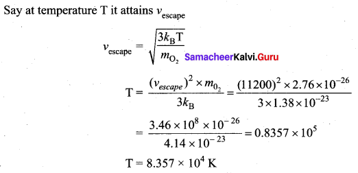 Samacheer Kalvi 11th Physics Solutions Chapter 9 Kinetic Theory of Gases 115