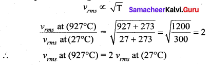 Samacheer Kalvi 11th Physics Solutions Chapter 9 Kinetic Theory of Gases 116