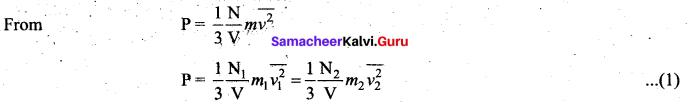 Samacheer Kalvi 11th Physics Solutions Chapter 9 Kinetic Theory of Gases 19