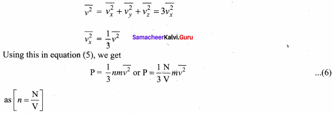 Samacheer Kalvi 11th Physics Solutions Chapter 9 Kinetic Theory of Gases 36