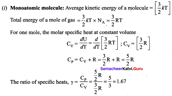 Samacheer Kalvi 11th Physics Solutions Chapter 9 Kinetic Theory of Gases 42