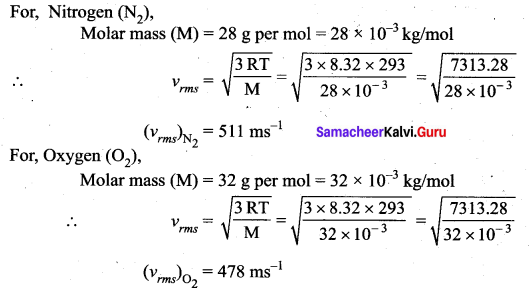 Samacheer Kalvi 11th Physics Solutions Chapter 9 Kinetic Theory of Gases 50