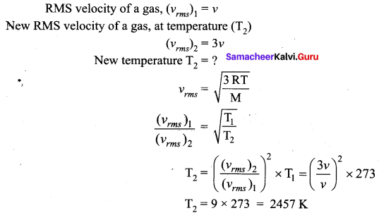 Samacheer Kalvi 11th Physics Solutions Chapter 9 Kinetic Theory of Gases 52