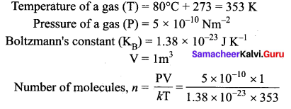 Samacheer Kalvi 11th Physics Solutions Chapter 9 Kinetic Theory of Gases 53