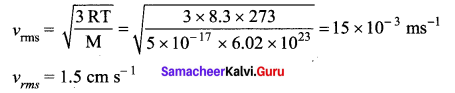 Samacheer Kalvi 11th Physics Solutions Chapter 9 Kinetic Theory of Gases 87