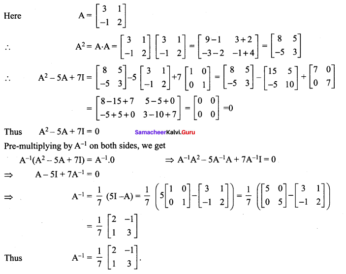 Samacheer Kalvi 12th Maths Solutions Chapter 1 Applications of Matrices and Determinants Ex 1.1 222