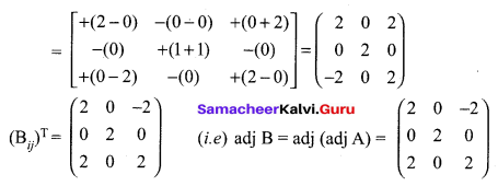 Samacheer Kalvi 12th Maths Solutions Chapter 1 Applications of Matrices and Determinants Ex 1.1 Q10.1