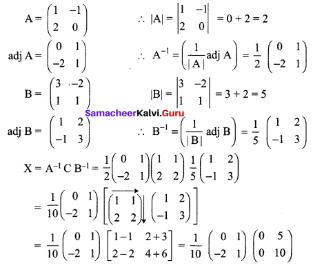 Samacheer Kalvi 12th Maths Solutions Chapter 1 Applications of Matrices and Determinants Ex 1.1 Q13