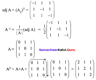 Samacheer Kalvi 12th Maths Solutions Chapter 1 Applications of Matrices and Determinants Ex 1.1 Q14.2