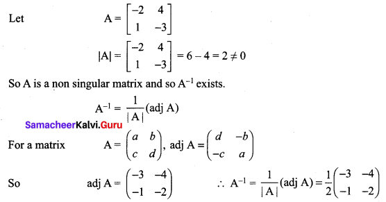 12 Maths Exercise 1.1 Samacheer Kalvi Chapter 1 Applications Of Matrices And Determinants