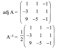 12th Exercise 1.1 Samacheer Kalvi Chapter 1 Applications Of Matrices And Determinants