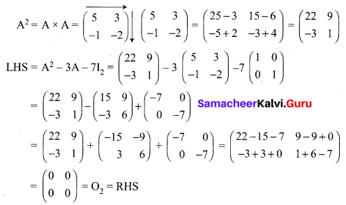 12 Maths Samacheer Kalvi Solutions Chapter 1 Applications Of Matrices And Determinants Ex 1.1