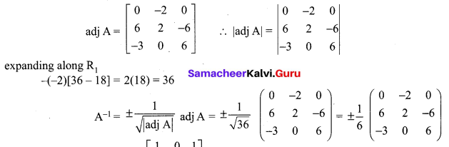 Samacheer Kalvi 12th Maths Solutions Chapter 1 Applications of Matrices and Determinants Ex 1.1 Q9