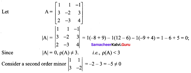Samacheer Kalvi 12th Maths Solutions Chapter 1 Applications of Matrices and Determinants Ex 1.2 2