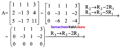 Samacheer Kalvi 12th Maths Solutions Chapter 1 Applications of Matrices and Determinants Ex 1.2 Q2.1