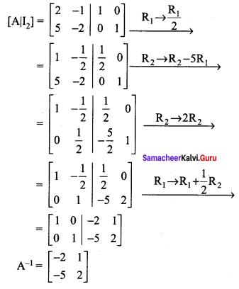 Samacheer Kalvi 12th Maths Solutions Chapter 1 Applications of Matrices and Determinants Ex 1.2 Q3.1