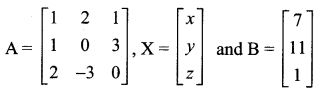 Samacheer Kalvi 12th Maths Solutions Chapter 1 Applications of Matrices and Determinants Ex 1.3 1